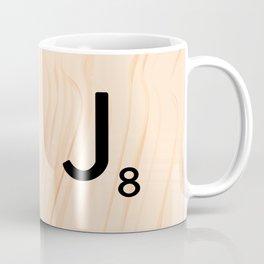 Scrabble Letter J - Large Scrabble Tiles Coffee Mug