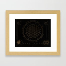 Shadow | Higher Dimensional Spirit Board (Ouija)  Framed Art Print