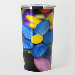 Colored sugared almonds as petals Travel Mug