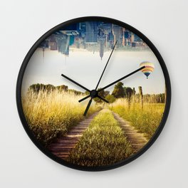 Meadows and City Wall Clock