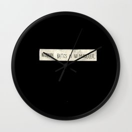 NORMAN BATES IS NO MURDERER. (BLACK VERSION)  Wall Clock