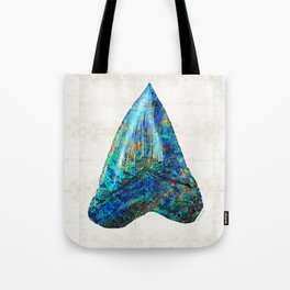 Blue Shark Tooth Art by Sharon Cummings Tote Bag