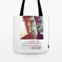 forever young Tote Bags featuring Forever Young by InariRaith