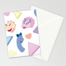 Nineties Dinosaur Jurassic Girlz Pattern Stationery Cards