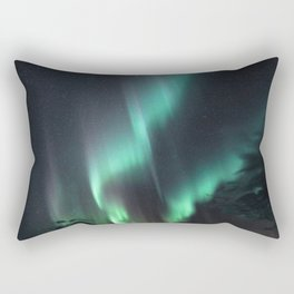 Northern Lights Over Iceland Rectangular Pillow