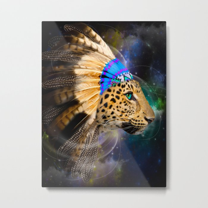 Fight For What You Love (Chief of Dreams: Leopard) Tribe Series Metal Print