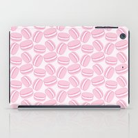 macaroon iPad Cases featuring French Macaroon Pattern - Paris Art - Pink Macaron by French Macaron Art Print and Decor Store