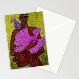 Classical African American Portrait 'Caribbean Bird Vendor' by Ellis Wilson Stationery Cards