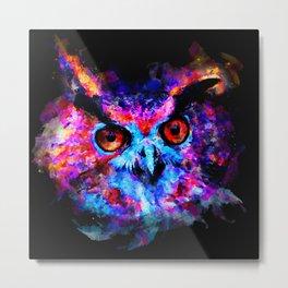 owl purple blue perfect Metal Print