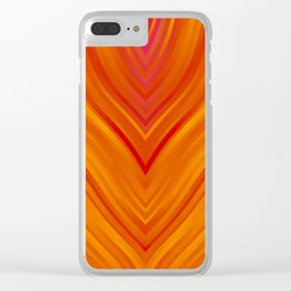 stripes wave pattern 3 eei Clear iPhone Case