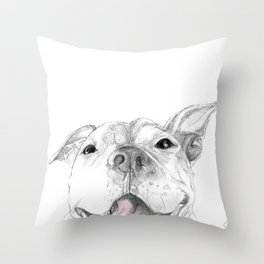 Whaddup :: A Pit Bull Smile Throw Pillow