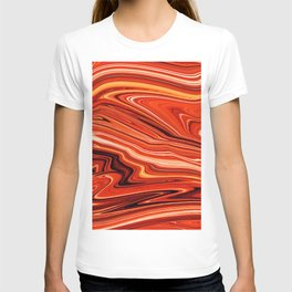 Modern Abstract orange and Yellow Layers T-shirt