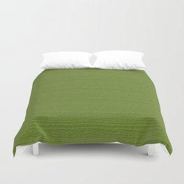 Peridot Wood Grain Color Accent Duvet Cover