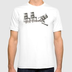 lazybones MEDIUM White Mens Fitted Tee