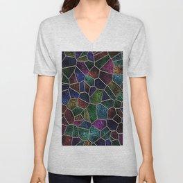 Mosaic LORA,multicolor Unisex V-Neck