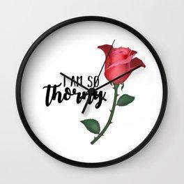 I Am So Thorny Wall Clock