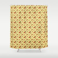 bar Shower Curtains featuring chocolate bar by Lucia Cillene