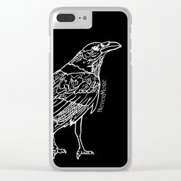 Raven White Clear iPhone Case