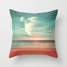 Ghost Planet Throw Pillow