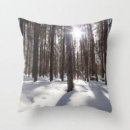 Yellowstone National Park - Lodgepole Forest 2 Throw Pillow