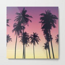 Palmtrees Sunset Metal Print