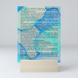 Blue Pool Book Mini Art Print