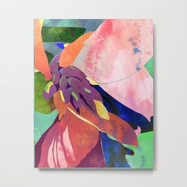 Peach Canna Lily Abstract Watercolor - Floral Art Print Metal Print