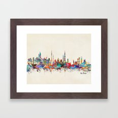 Abu Dhabi skyline Framed Art Print