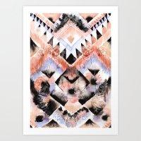 southwest Art Prints featuring Southwest Floral by Casey Saccomanno