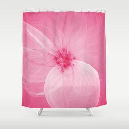 Pink Fairy Blossom Fractal Shower Curtain
