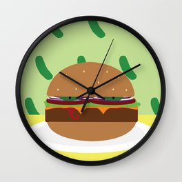 The Damned Burger Wall Clock