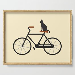Cat Riding Bike Serving Tray