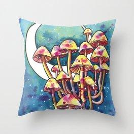 Mushroom Patch Throw Pillow