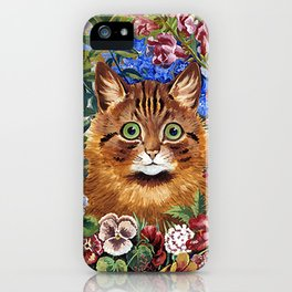 Louis Wain's Cats - Cat In the Garden iPhone Case