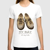 shoes T-shirts featuring Shoes, by pexkung