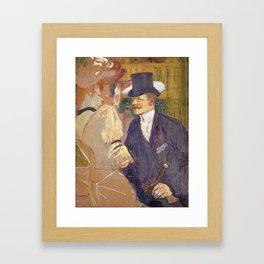 The Englishman, Henri de Toulouse Lautrec, 1892 Framed Art Print