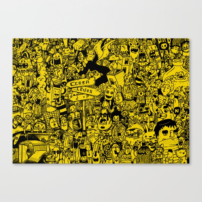 Yellow mashup Canvas Print