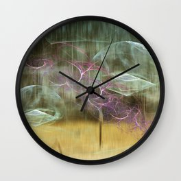 Laundry Line in Abstract Wall Clock