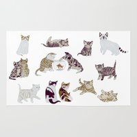 kittens Area & Throw Rugs featuring Little Kittens by Yuliya