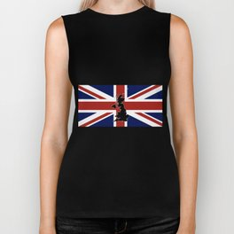 UK Silhouette and Flag Biker Tank