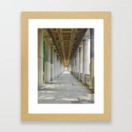 Berlin columns Framed Art Print