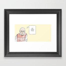 Hot Man Framed Art Print