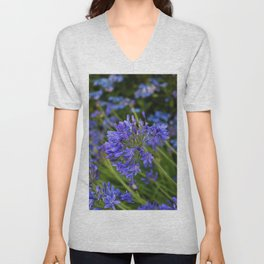 A Simple Blue Unisex V-Neck