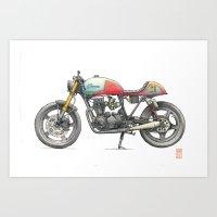 honda Art Prints featuring Honda by Zeroack