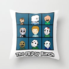 The Friday Bunch Throw Pillow