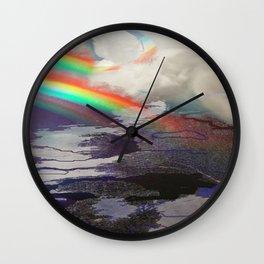 Grey To Gold Wall Clock