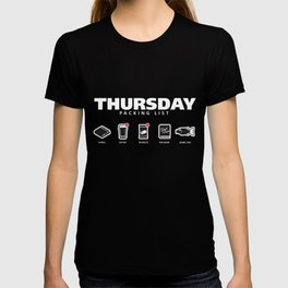 THURSDAY - The Hitchhiker's Guide to the Galaxy Packing List T-shirt