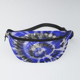 Dark Blue Tie Dye Fanny Pack