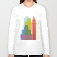 san diego Long Sleeve T-shirts featuring Shapes of San Diego by Glen Gould
