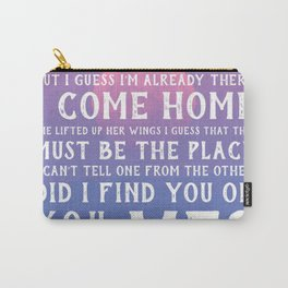 Talking Heads Song Lyrics Carry-All Pouch